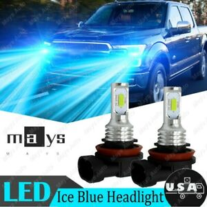 For Ford F 150 2015 2019 2x Ice Blue 8000k Led Low Beam Headlight Bulbs