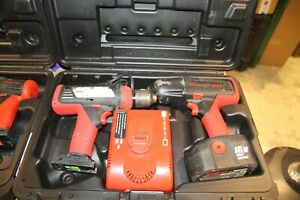 Snapon 18v 14 4v 2 Cordless Impact And Drill Lot Cdr6850 Ct6850 Ct4110a
