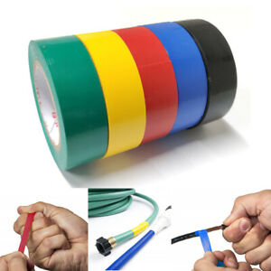5 Rolls Pvc Electrical Tape Wire Insulating 5 Color 32ft Length 0 7 Wide Set