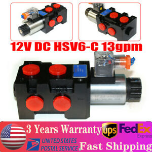 12v Hydraulic Solenoid Operated Selector Diverter Valve 12 Volt Dc Hsv6 c 13gpm