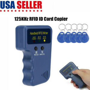 Handheld 125khz Rfid Duplicator Key Copier Reader Writer Id Card Cloner Keys
