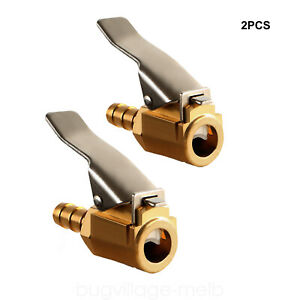 2 Pack Air Chuck 1 4 Inch Brass Tire Inflator Air Compressor Hose End Connector