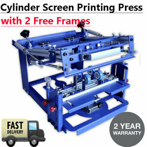 Cylinder Curved Screen Printing Press For Cup Mug Bottle With 2 Free Frames