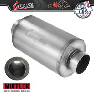 4 Ss Diesel Muffler 24 Body Xs2772 Stainless Mesh Fiberglass Replacement