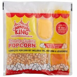 Carnival King All in one Popcorn Kit For 4 Oz Popper 24 case Free Shipping