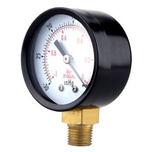 Vacuum Pressure Gauge 50mm Psi bar For Air Compressor Water Oil Gas 1 4 Npt