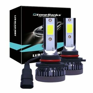 9006 Hb4 3000k Yellow Car Led Headlight Bulbs Hi low Beam Lamp Fog Lights Pair