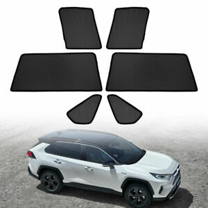 6x For Toyota Rav4 Hybrid 2019 Car Window Sun Shades Visor Sunvisor Mesh Shield