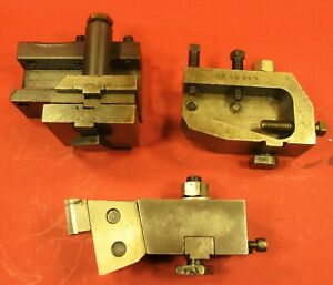 Lot Of 3 Dovetail And Cutter Tool Holders Screw Machine Turret Lathe