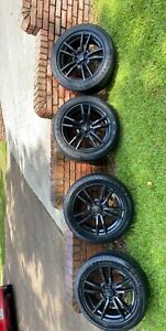 Ford Mustang 18 Inch Oem Black Rims And Tires
