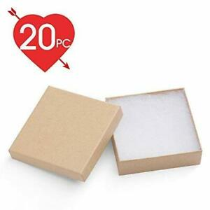 Jewelry Boxes 3 5x3 5x1 Paper Gift Boxes Cardboard Bracelet Boxes brown 20pc