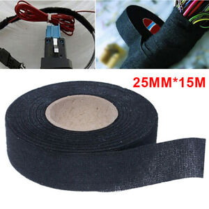 15m Car Adhesive Cloth Fabric Electrical Wiring Harness Loom Insulation Tape