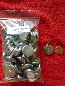 50 PCS ROUND FLAT COIN RIVER SINKERS 1 OZ $16.69