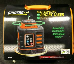 Johnson Self leveling Rotary Laser W Greenbrite Tech 40 6543 Brand New