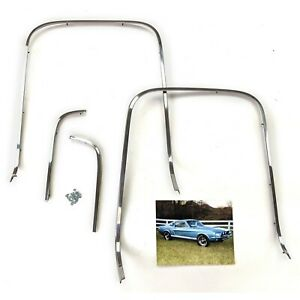 1967 Mustang Deluxe Interior Seat Back Trim Moldings 4 Piece Set New