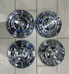 1956 1957 1958 Corvette Hubcaps Wheel Covers With Spinners Set Of 4