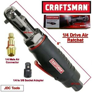 Craftsman 1 4 Drive Mini Air Ratchet Wrench W 1 4 To 3 8 Impact Adapter 3 8