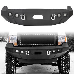 For 2009 2014 Ford F150 Front Bumper Heavy Duty Replacement Winch Ready