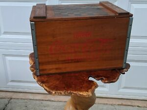 Original 1950's Coca-Cola Wooden Box Crate With  Checker Board Top   Atlanta GA.
