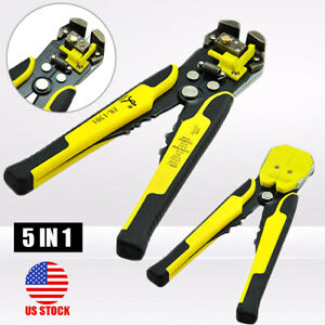 5in1 Multi use Automatic Wire Stripper Cutter Crimper Cable Terminal Pliers Tool