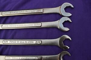 Vintage Craftsman Usa 6 Piece Quick Wrench Speed Wrench Combination Set 3 4 3 8