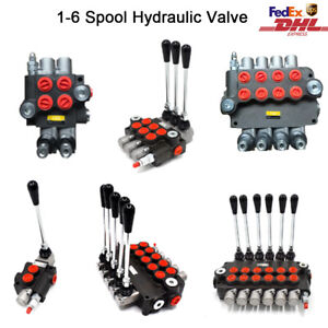 1 2 3 Spool Hydraulic Monoblock Directional Control Valve Adjustable Pressure Us