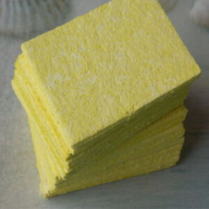 10 Yellow Cleaning Sponge Cleaner For Enduring Welding Electric Iron Soldering U