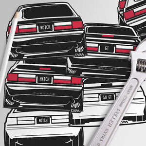 Foxbody Ford Mustang Rear Decals Notch Or Gt You Choose