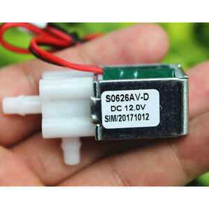 Dc 12v Mini Electric Solenoid Valve Normally Closed Air Water Control Valve