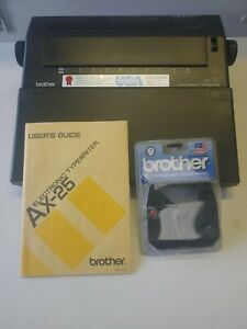Brother Ax 25 Electronic Typewriter Word Spell Check Lcd Screen manual tested