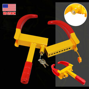 Wheel Lock Clamp Boot Tire Claw Trailer Auto Car Truck Anti Theft Towing Outdoor