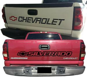 Chevy Trucks 1500 Decal Chevrolet Vinyl Bed Tailgate Letters Silverado 400 Z71