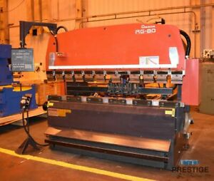 Amada Rg80 88ton X 8 Cnc Upacting Press Brake 30577