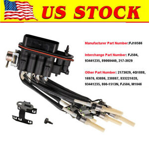 Oem Fuel Spider Injector W Bracket Fj504 17114163 5340347 For Chevy Truck 5 7l