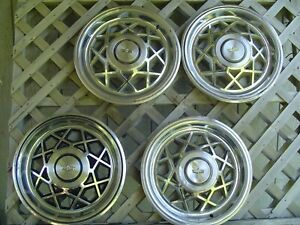 1980 1981 Chevy Chevrolet Caprice Hubcaps Wheel Covers Police Classic Vintage