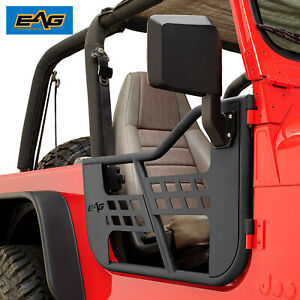 Eag Tubular Door Safari 2pcs With Side Mirror Fit For 76 95 Jeep Cj7 yj Wrangler
