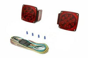 na Rear Led Submersible Trailer Tail Lights Kit Waterproof 25 Wire Harness