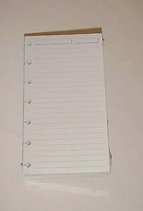 Levenger Ads3215 White Ruled 300 Refill Sheets Compact Circa 6 3 4 X 3 3 4 New