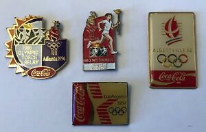 1984  1992  1996 Coca Cola Olympic pins 4 pin lot