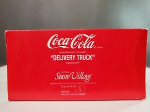 DEPT 56 SNOW VILLAGE COCA COLA DELIVERY TRUCK 5479-8