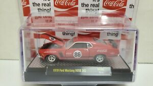 M2 Machines Coca Cola 1970 Ford Mustang BOSS 302 RC02 New LE 9600