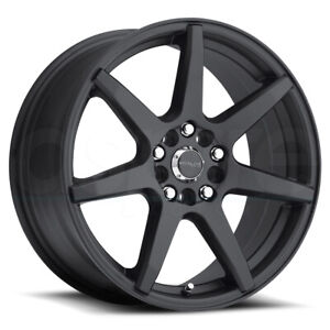 17x7 5 Black Wheels Raceline 131b Evo 5x100 5x114 3 40 Set Of 4