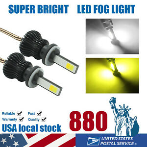 880 881 Led Fog Light Bulbs Dual Color White amber Yellow Drl Driving Lamp