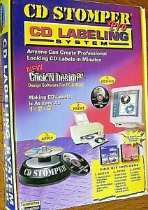 Cd Stomper Pro Cd Labeling System Windows Mac Create Great Cds Jewel Cases