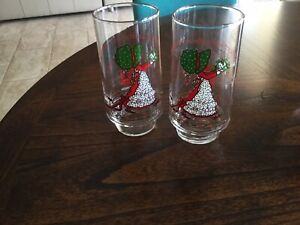 2 COCA COLA LIMITED EDITION  Holly Hobbie Coca Cola drinking Glass set 70's