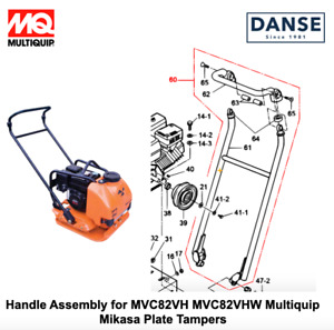 Handle Assembly For Mvc82vh Multiquip Mikasa Plate Tampers 419119550 419119554