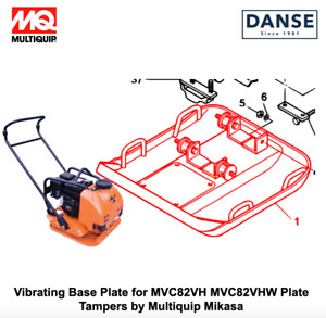 Vibrating Base Plate For Mvc82vh Plate Tampers By Multiquip 419119550 419119554