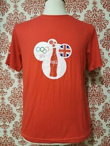Coca Cola London 2012 Olympics T Shirt NEW Made from 5 Coke Bottles ~ Brand New
