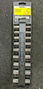 Craftsman 6pt Deep 3 8 Drive Socket Accessory Set 934439 Preowned
