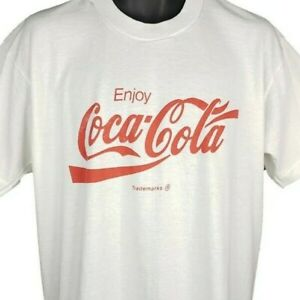 Coca Cola T Shirt Vintage 80s 90s Soda Coke Screen Stars 50/50 Made In USA XL